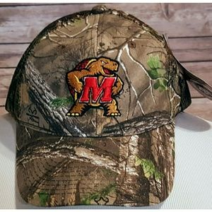 NCAA U of Maryland Terrapins Camo Snapback Cap